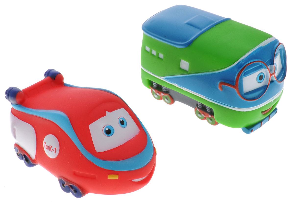 Играем вместе Набор игрушек для ванной Паровозик Тишка 2 шт играем вместе набор игрушек для ванной корабль и самолет