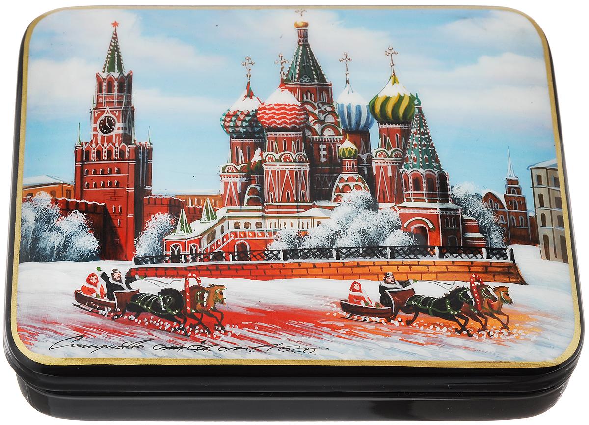 Шкатулка Москва. Красная площадь, 12 х 9 см. Ручная авторская работа шкатулка москва красная площадь 12 х 9 см ручная авторская работа