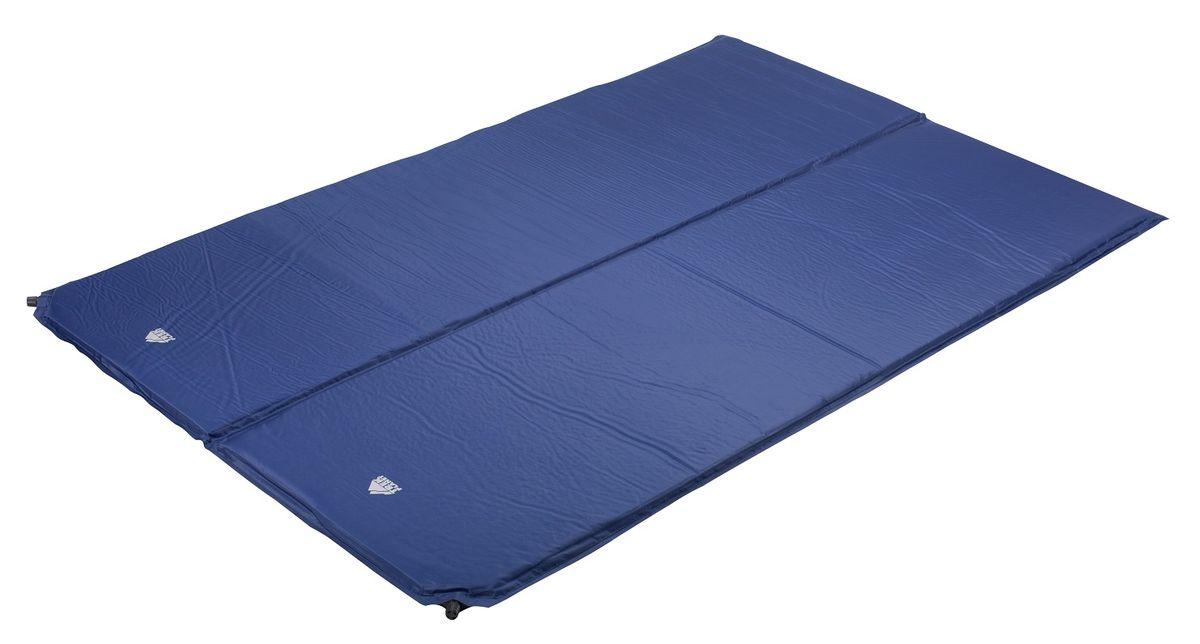 Коврик TREK PLANET Active Double 25, самонадувающийся, цвет: синий, 183 х 120 х 25 см коврик самонадувающийся trek planet relax 50