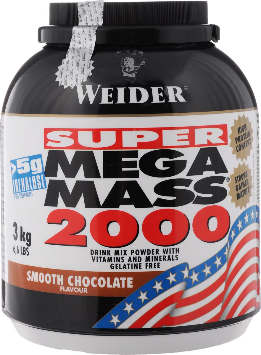 Гейнер Weider Super Mega Mass 2000, шоколад, 3 кг гейнеры weider гейнер weider mega mass 4000 ваниль 7 кг
