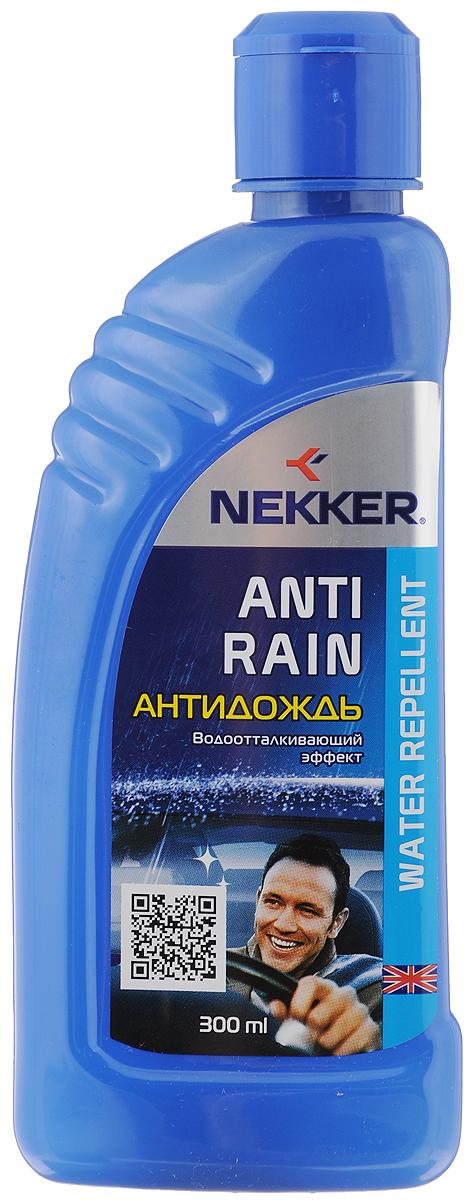 Антидождь Nekker, 300 мл66801104Высокоэффективное водоотталкивающее средство Nekker используется для придания водоотталкивающих свойств стеклянным и зеркальным наружным поверхностям автомобиля. Обеспечивает комфортное безопасное вождение, значительно улучшая дорожную видимость во время дождя и снегопада. Не оставляет разводов. Состав: жидкости полиорганосилоксановые, спирт изопропиловый.Товар сертифицирован.