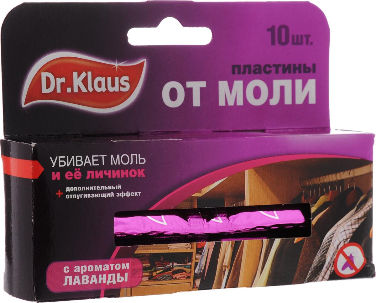 Пластины от моли Dr.Klaus, с ароматом лаванды, 10 штDK03030031Средство Dr.Klaus предназначено для защиты шерсти, меха и изделий из них от повреждения молью. Обладает приятным ароматом лаванды.Уничтожает личинок, а не просто отпугивает моль. Именно личинки портят вещи.Состав: 0,8% трансфлутрин.Комплектация: 10 шт.Товар сертифицирован.