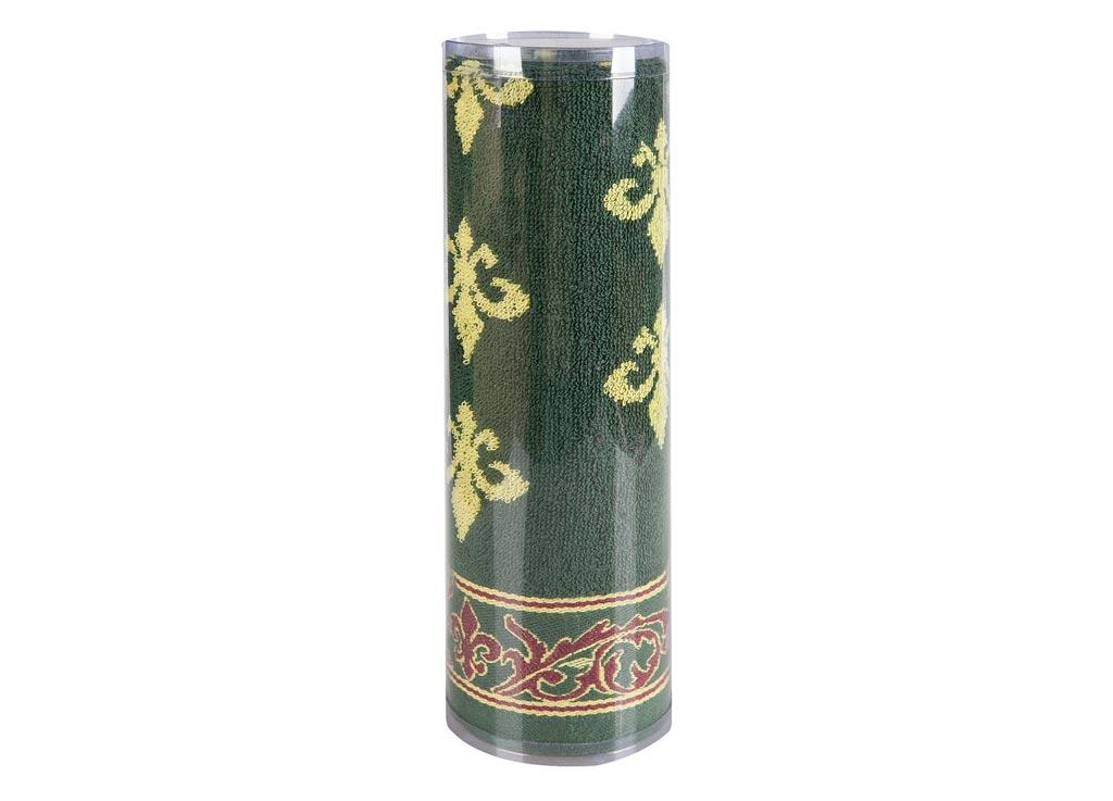 Полотенце махровое Soavita Вензель, цвет: зеленый, 45 х 90 см82739Махровое полотно создается из хлопковых нитей, которые, в свою очередь, прядутся из множества хлопковых волокон. Чем длиннее эти волокна, тем прочнее будет нить, и, соответственно, изделие. Длина составляющих хлопковую нить волокон влияет и на фактуру получаемой ткани: чем они длиннее, тем мягче и пушистее получится махровое изделие, тем лучше будет впитывать изделие воду. Хотя на впитывающие качество махры – ее гигроскопичность, не в последнюю очередь влияет состав волокна. Мягкая махровая ткань отлично впитывает влагу и быстро сохнет. Soavita – это популярный бренд домашнего текстиля. Дизайнерская студия этой фирмы находится во Флоренции, Италия. Производство перенесено в Китай, чтобы сделать продукцию более доступной для покупателей. Таким образом, вы имеете возможность покупать продукцию европейского качества совсем не дорого. Домашний текстиль прослужит вам долго: все детали качественно прошиты, ткани очень плотные, рисунок наносится безопасными для здоровья красителями, не линяет и держится много лет. Все изделия упакованы в подарочные упаковки.