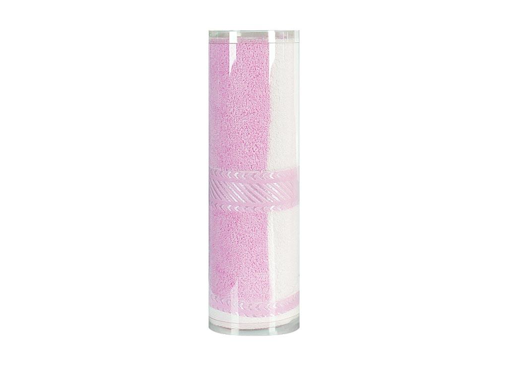 Полотенце махровое Soavita Полосы, цвет: розовый, 65 х 135 см82984Махровое полотно создается из хлопковых нитей, которые, в свою очередь, прядутся из множества хлопковых волокон. Чем длиннее эти волокна, тем прочнее будет нить, и, соответственно, изделие. Длина составляющих хлопковую нить волокон влияет и на фактуру получаемой ткани: чем они длиннее, тем мягче и пушистее получится махровое изделие, тем лучше будет впитывать изделие воду. Хотя на впитывающие качество махры – ее гигроскопичность, не в последнюю очередь влияет состав волокна. Мягкая махровая ткань отлично впитывает влагу и быстро сохнет. Soavita – это популярный бренд домашнего текстиля. Дизайнерская студия этой фирмы находится во Флоренции, Италия. Производство перенесено в Китай, чтобы сделать продукцию более доступной для покупателей. Таким образом, вы имеете возможность покупать продукцию европейского качества совсем не дорого. Домашний текстиль прослужит вам долго: все детали качественно прошиты, ткани очень плотные, рисунок наносится безопасными для здоровья красителями, не линяет и держится много лет. Все изделия упакованы в подарочные упаковки.