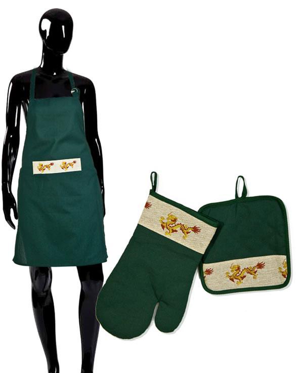 Комплект кухонный Soavita Дракон, 3 предмета комплект для кухни soavita kitchen петушок прихватка и вареж