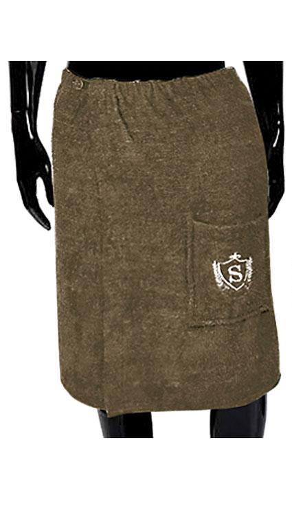 Килт для бани и сауны Soavita, мужской, цвет: коричневый, 60 х 140 см сауны бани и оборудование valentini набор для сауны fantasy