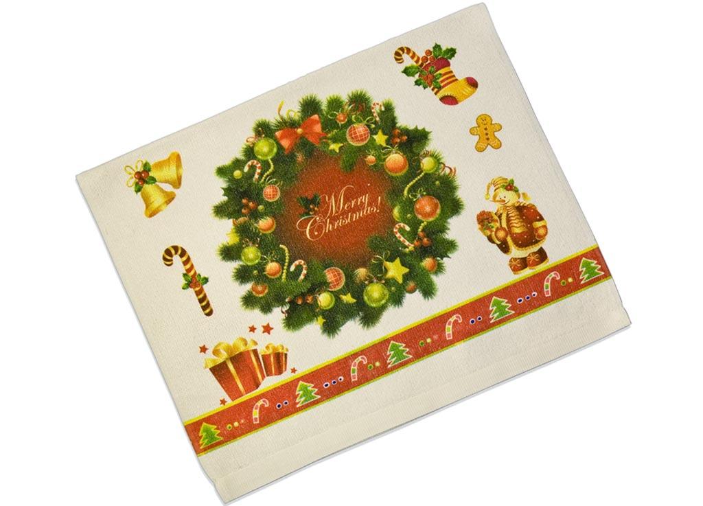 Полотенце кухонное Soavita Венок, цвет: белый, зеленый, красный, 38 х 64 см51798Кухонное полотенцеSoavita Венок, выполненное из высококачественной микрофибры (полиэстер), оформлено оригинальным рисунком. Микрофибра - материал высочайшего качества, изготовленный из сложных микроволокон, по ощущениям напоминает велюр и передающий уникальное и невероятное чувство мягкости. Ткань из микрофибры дышащая, устойчива к загрязнениям и пятнам, сохраняет свой высококачественный внешний вид и уникальную мягкость в течении всего срока службы. Изделие предназначено для использования на кухне и в столовой.Такое полотенце станет отличным вариантом для практичной и современной хозяйки.