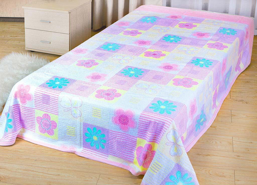 Покрывало Soavita Цветы, цвет: розовый, 180 х 220 см62953Махровое покрывало Soavita Цветы изготовлено из экологически чистого натурального хлопка, поэтому подходит как для взрослых, так и для детей. Оно будет хорошо смотреться и на диване, и на большой кровати. Благодаря яркому и необычному дизайну, покрывало не только подарит тепло, но и гармонично впишется в интерьер комнаты.Махровое полотно создается из хлопковых нитей, которые, в свою очередь, прядутся из множества хлопковых волокон. Чем длиннее эти волокна, тем прочнее будет нить, и, соответственно, изделие. Длина составляющих хлопковую нить волокон влияет и на фактуру получаемой ткани: чем они длиннее, тем мягче и пушистее получится махровое изделие, тем лучше будет впитывать изделие воду. Хотя на впитывающие качество махры - ее гигроскопичность, не в последнюю очередь влияет состав волокна. Мягкая махровая ткань отлично впитывает влагу и быстро сохнет.