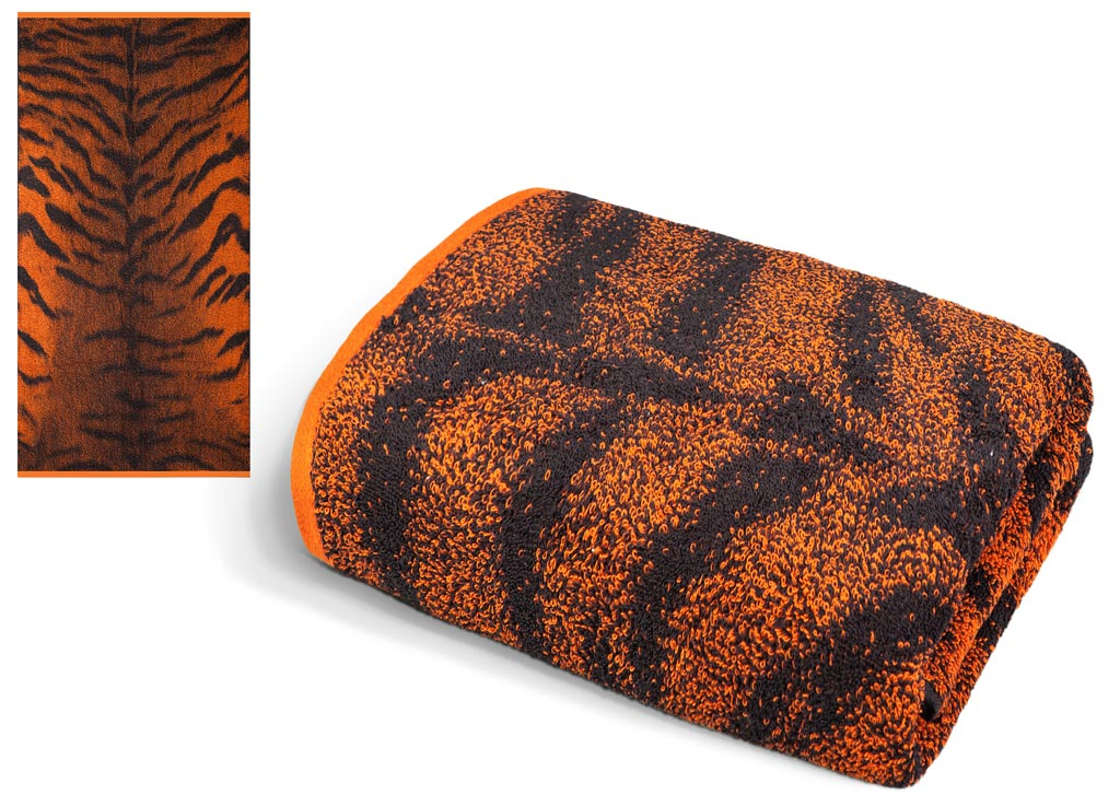 Полотенце Soavita Premium. Тигр 2, цвет: черный, оранжевый, 65 х 135 см эспандер грудной atemi цвет оранжевый черный 2 х 2 х 65 см