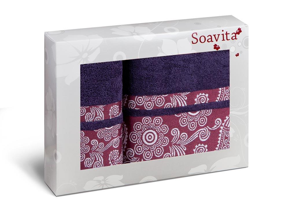 Набор полотенец Soavita Cocktail, цвет: черничный, 2 шт70326Набор Soavita Cocktail состоит из 2 махровых полотенец. Изделия выполнены из хлопка. Полотенца используются для протирки различных поверхностей, также широко применяются в быту.Такой набор станет отличным вариантом для практичной и современной хозяйки.Махровое полотно создается из хлопковых нитей, которые, в свою очередь, прядутся из множества хлопковых волокон. Чем длиннее эти волокна, тем прочнее будет нить, и, соответственно, изделие. Длина составляющих хлопковую нить волокон влияет и на фактуру получаемой ткани: чем они длиннее, тем мягче и пушистее получится махровое изделие, тем лучше будет впитывать изделие воду. Хотя на впитывающие качество махры - ее гигроскопичность, не в последнюю очередь влияет состав волокна. Мягкая махровая ткань отлично впитывает влагу и быстро сохнет.Размер полотенец: 50 х 90 см, 70 х 140 см.