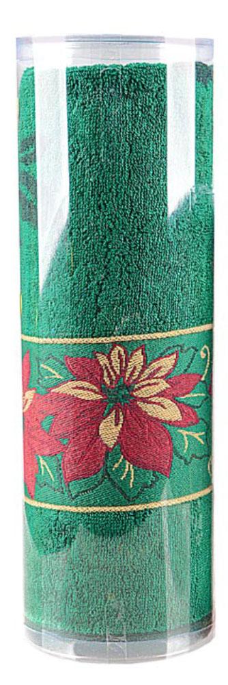 Полотенце махровое Soavita Flower, цвет: зеленый, 70 х 130 см70371Махровое полотно создается из хлопковых нитей, которые, в свою очередь, прядутся из множества хлопковых волокон. Чем длиннее эти волокна, тем прочнее будет нить, и, соответственно, изделие. Длина составляющих хлопковую нить волокон влияет и на фактуру получаемой ткани: чем они длиннее, тем мягче и пушистее получится махровое изделие, тем лучше будет впитывать изделие воду. Хотя на впитывающие качество махры – ее гигроскопичность, не в последнюю очередь влияет состав волокна. Мягкая махровая ткань отлично впитывает влагу и быстро сохнет. Soavita – это популярный бренд домашнего текстиля. Дизайнерская студия этой фирмы находится во Флоренции, Италия. Производство перенесено в Китай, чтобы сделать продукцию более доступной для покупателей. Таким образом, вы имеете возможность покупать продукцию европейского качества совсем не дорого. Домашний текстиль прослужит вам долго: все детали качественно прошиты, ткани очень плотные, рисунок наносится безопасными для здоровья красителями, не линяет и держится много лет. Все изделия упакованы в подарочные упаковки.