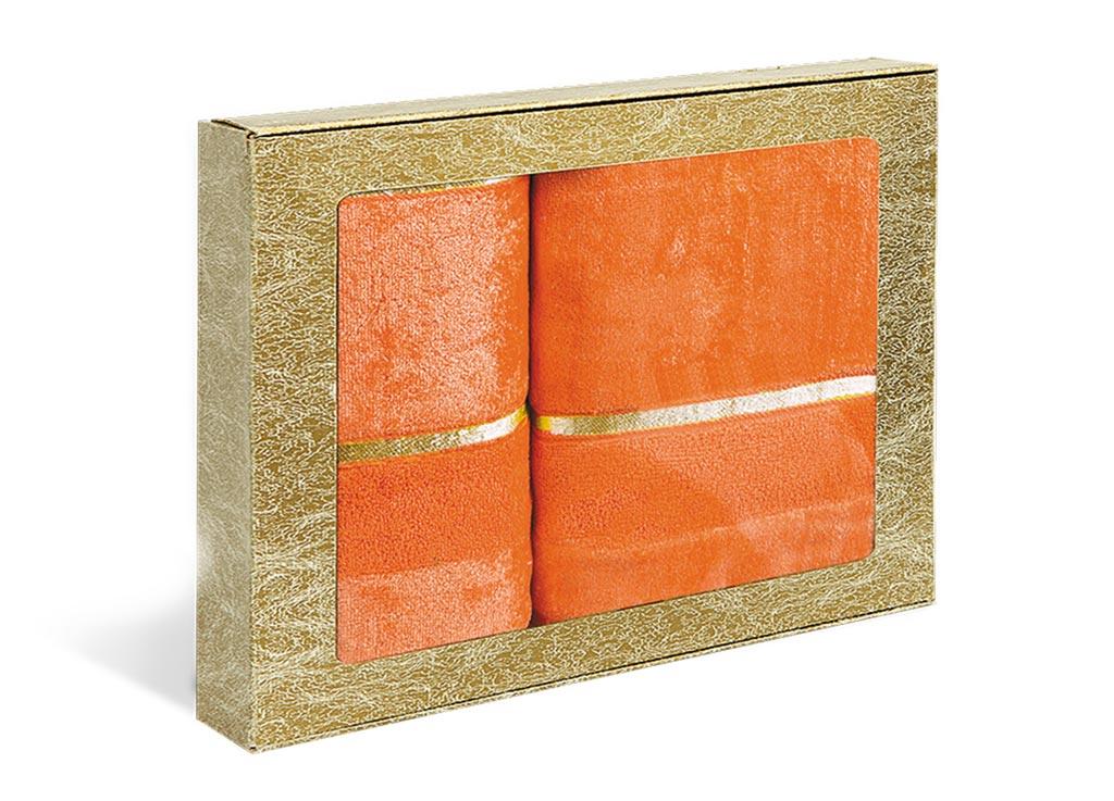 Набор махровых полотенец Soavita Louise, цвет: оранжевый, 2 шт71204Махровое полотно создается из хлопковых нитей, которые, в свою очередь, прядутся из множества хлопковых волокон. Чем длиннее эти волокна, тем прочнее будет нить, и, соответственно, изделие. Длина составляющих хлопковую нить волокон влияет и на фактуру получаемой ткани: чем они длиннее, тем мягче и пушистее получится махровое изделие, тем лучше будет впитывать изделие воду. Хотя на впитывающие качество махры – ее гигроскопичность, не в последнюю очередь влияет состав волокна. Мягкая махровая ткань отлично впитывает влагу и быстро сохнет.