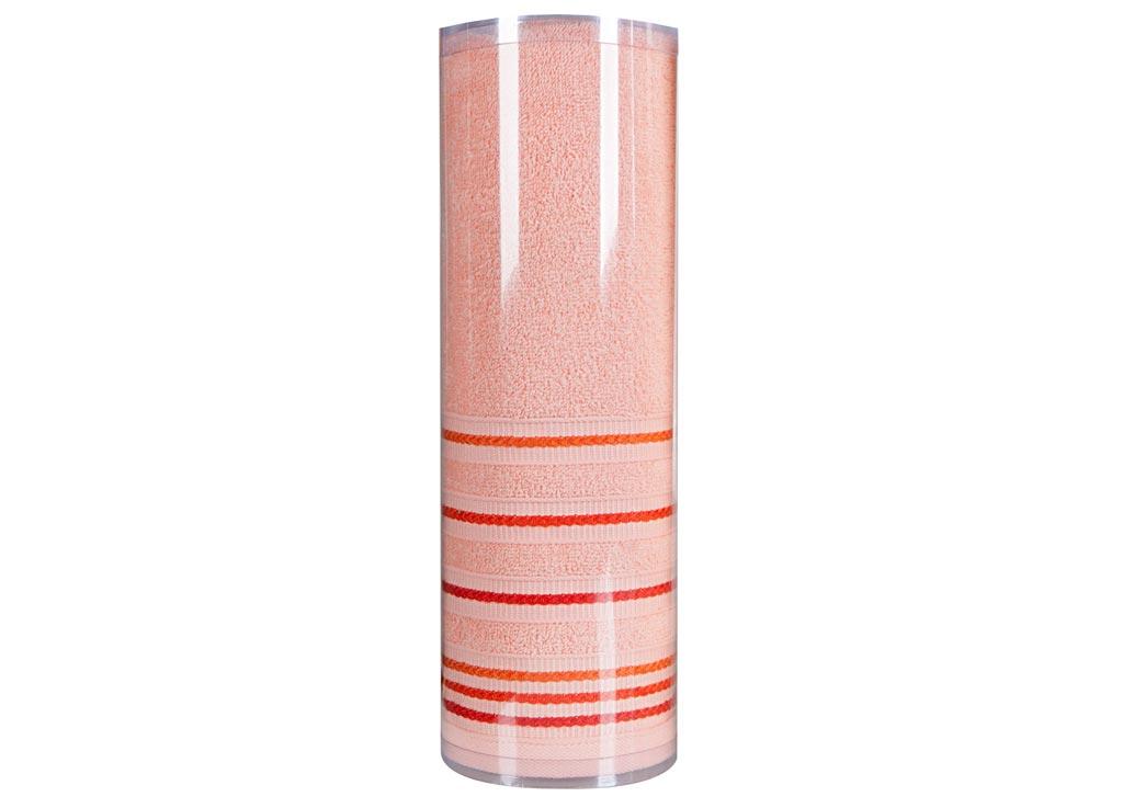 Полотенце махровое Soavita Eo. Элит, цвет: персиковый, 70 х 140 см74676Махровое полотно создается из хлопковых нитей, которые, в свою очередь, прядутся из множества хлопковых волокон. Чем длиннее эти волокна, тем прочнее будет нить, и, соответственно, изделие. Длина составляющих хлопковую нить волокон влияет и на фактуру получаемой ткани: чем они длиннее, тем мягче и пушистее получится махровое изделие, тем лучше будет впитывать изделие воду. Хотя на впитывающие качество махры – ее гигроскопичность, не в последнюю очередь влияет состав волокна. Мягкая махровая ткань отлично впитывает влагу и быстро сохнет.Soavita – это популярный бренд домашнего текстиля. Дизайнерская студия этой фирмы находится во Флоренции, Италия. Производство перенесено в Китай, чтобы сделать продукцию более доступной для покупателей. Таким образом, вы имеете возможность покупать продукцию европейского качества совсем не дорого. Домашний текстиль прослужит вам долго: все детали качественно прошиты, ткани очень плотные, рисунок наносится безопасными для здоровья красителями, не линяет и держится много лет. Все изделия упакованы в подарочные упаковки.
