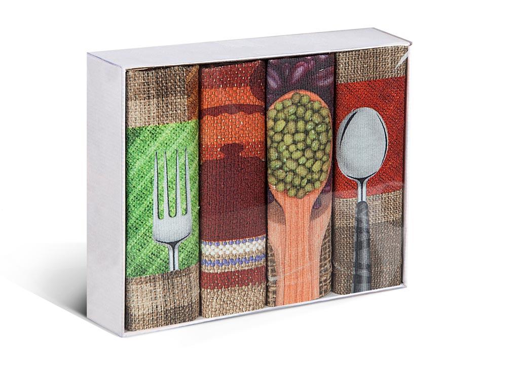 Набор полотенец Soavita Prima, 38 х 64 см, 4 шт полотенца кухонные la pastel набор полотенец 4 предмета из микрофибры 30х30