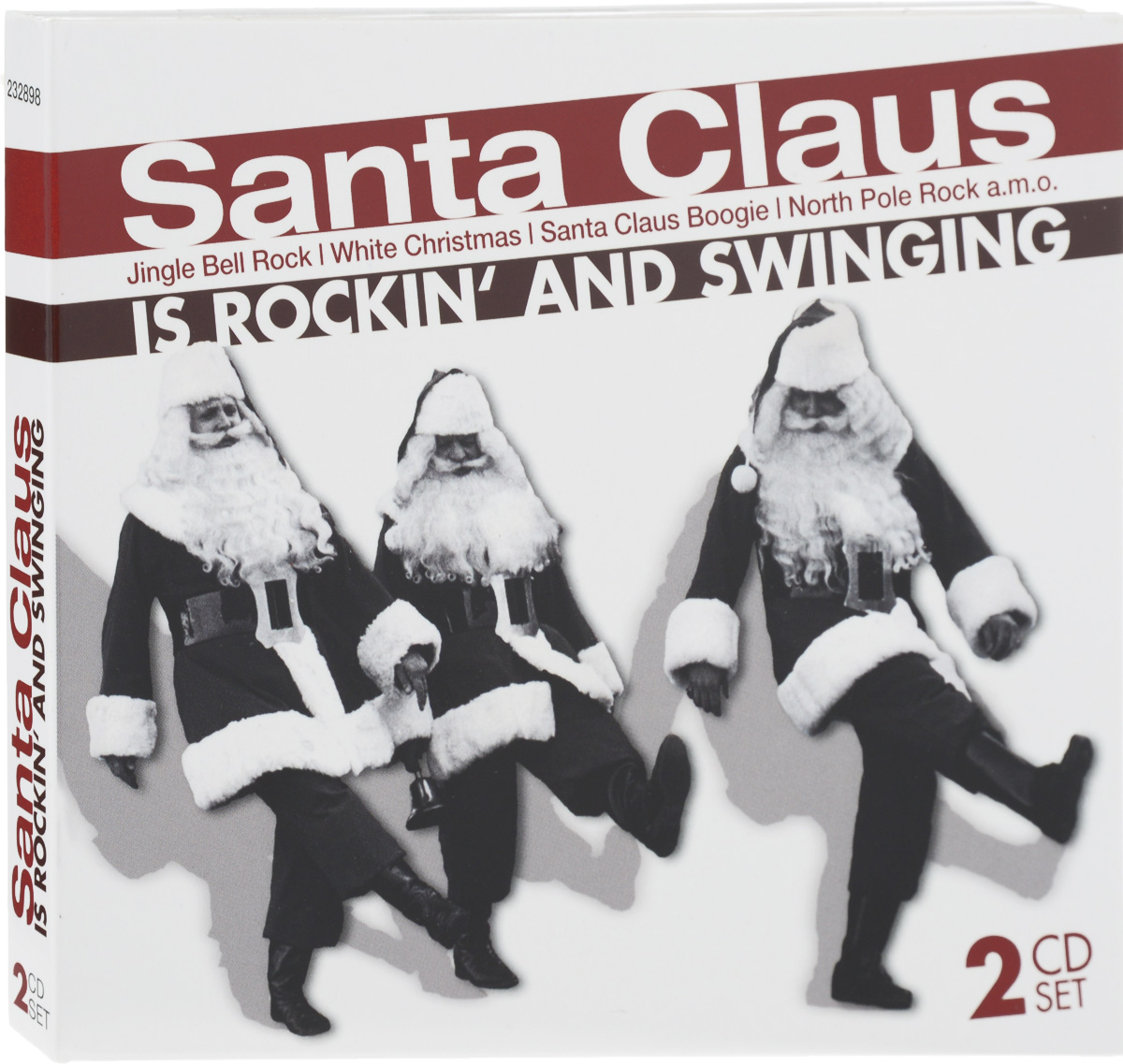 Santa Claus Is Rockin' And Swinging (2 CD) colorful santa claus pattern linen pillow case