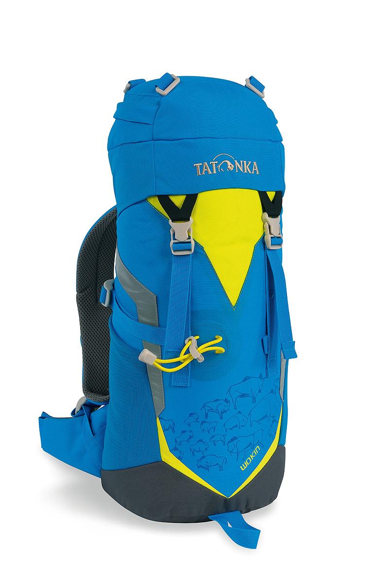 Рюкзак туристический детский Tatonka Wokin, цвет: синий, желтый, 11 л1824.194Детский туристический рюкзак Tatonka Wokin, выполненный из качественных материалов, предназначен для юных путешественников c шести лет. Смягченная несущая система рюкзака приспособлена к телосложению ребенка, а спортивный дизайн делает его взрослым.Особенности:- Несущая система Padded Back. - S-образный плечевой ремень.- Регулируемый по высоте нагрудный ремень.- Боковые утягивающие ремни.- Удобная ручка.- Карман на молнии в крышке рюкзака.- Основное отделение на шнуровке.- Боковые сетчатые карманы.- Табличка для имени внутри рюкзака.- Яркие светоотражающие элементы повышаю безопасность.