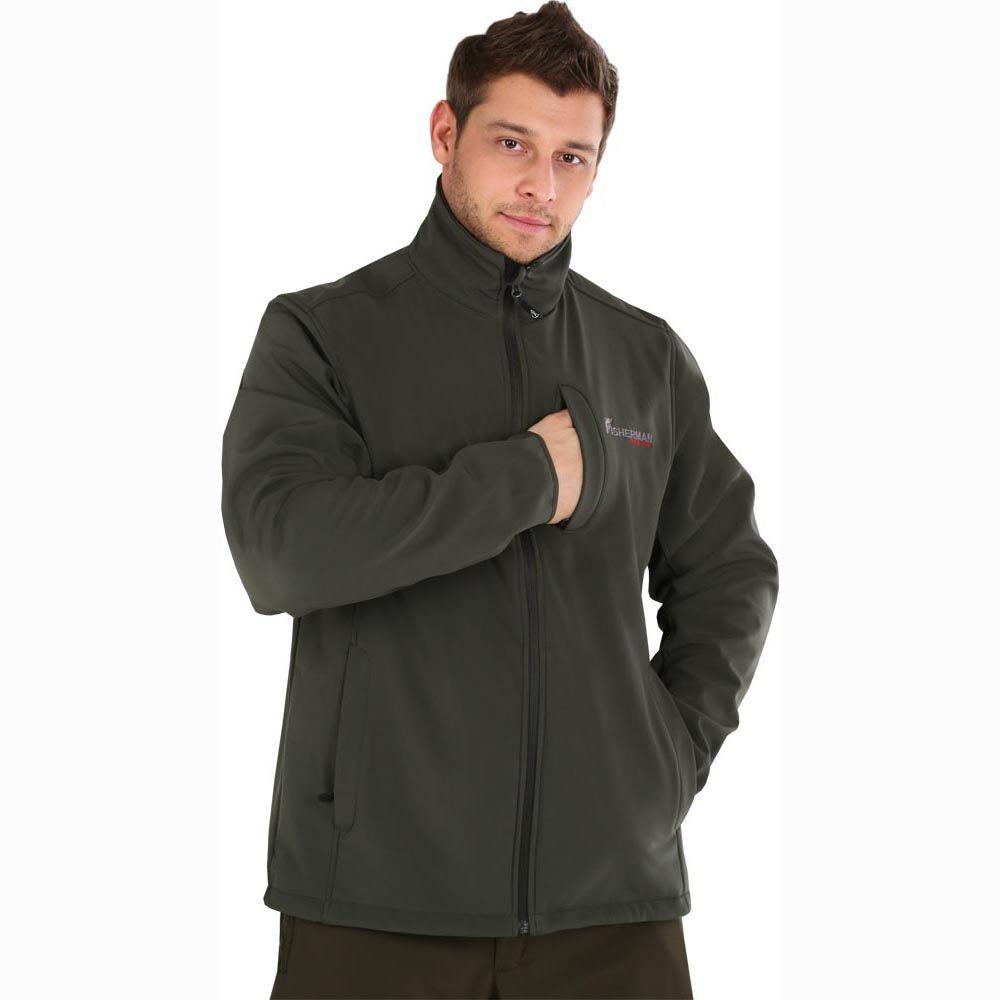 Куртка мужская рыболовная FisherMan Nova Tour Грейлинг, цвет: хаки. 46053-531. Размер XS (48) куртка мужская fisherman nova tour грейлинг pro цвет графит 95430 924 размер xs 48