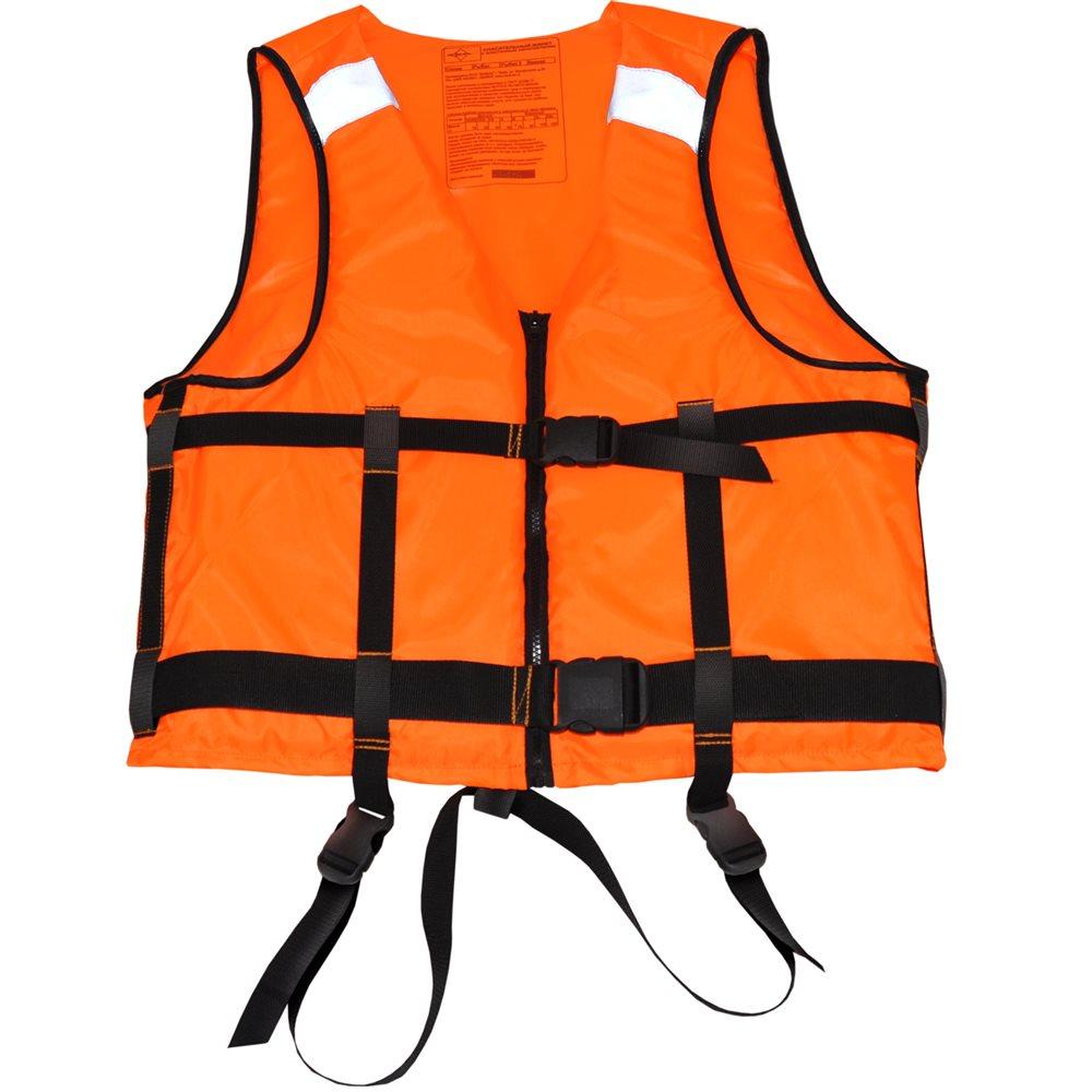 Жилет спасательный FisherMan Nova Tour Бальза, цвет: оранжевый. 95740-233. Размер L (54)95740-233Спасательный жилет Бальза необходимый атрибут для нахождения на воде, будь то речные прогулки, рыбалка, охота с воды или водные виды спорта. Фиксация жилета на теле осуществляется при помощи силовой стропы шириной 50 мм, и силовой пряжкой – фастексом, с возможностью индивидуальной подгонки.В комплекте к жилету поставляется специальный свисток-фонарик с компасом, который надежно закреплен на груди и имеет специальный кармашек. С помощью свистка и фонарика можно подавать свето-звуковые сигналы в экстренной ситуации.Жилет прошел необходимую сертификацию в ГИМС МЧС России, о чем свидетельствуют специальные обозначения на внутренней части жилета.