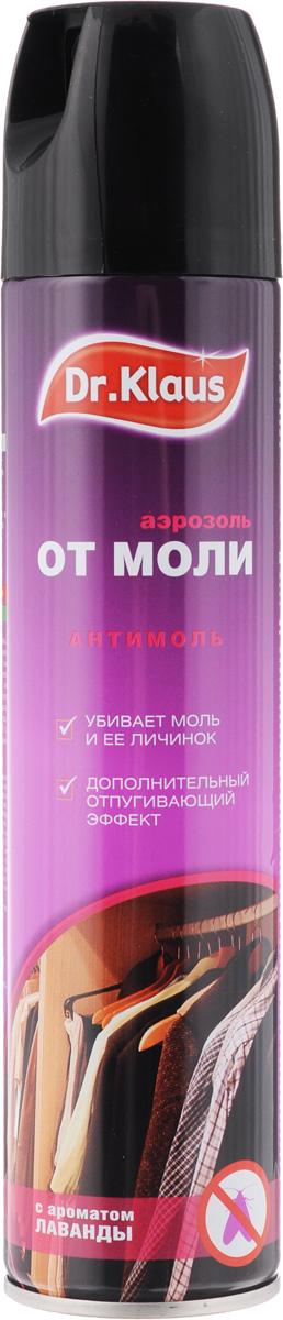 Аэрозоль от моли Dr.Klaus, с ароматом лаванды, 300 млDK03220072Средство Dr.Klaus предназначено для защиты шерсти, меха и изделий из них от повреждения молью и кожеедом. Обладает приятным ароматом лаванды.Состав: 0,25% ДВ-перметрин, 0,05% отдушка, растворитель.Товар сертифицирован.
