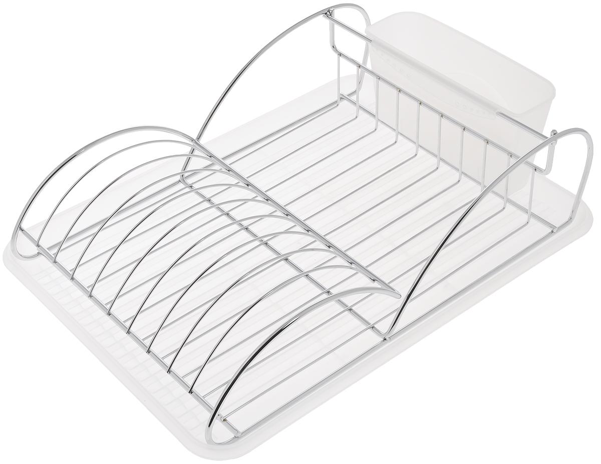 Сушилка для посуды Bekker Koch, с поддоном, 41 х 28 х 11,5 см. BK-5511BK-5511Сушилка для посуды Bekker Koch выполнена из высококачественной нержавеющей стали и пластика. Изделие представляет собой решетку с ячейками, в которые помещается посуда, и отделение для столовых приборов. Ваши тарелки высохнут быстро, если после мойки вы поместите их в легкую, яркую, современную сушилку.Размер сушилки: 41 х 28 х 11,5 см.Размер поддона: 43 х 32 х 2 см.Размер емкости под столовые приборы: 19 х 7 х 10 см.