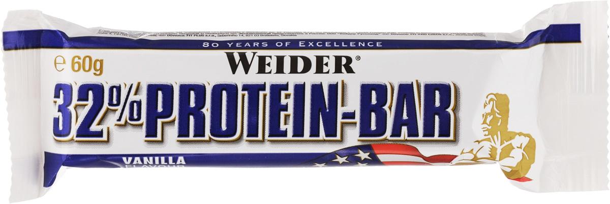 Батончик протеиновый Weider 32% Protein Bar, ваниль, 60 г30817Weider 32% Protein Bar - это батончик, несущий в составе 32% высококачественного протеина. Он имеет много протеинов и мало жира для утоления легкого голода между приемами пищи. Может заменить протеиновый коктейль для увеличения белков в дневном рационе.Рекомендации по применению:Идеально употреблять между приемами пищи или как десерт, до и после тренировки.Состав: сироп глюкозы, молочный протеин, сироп фруктозы, гидрогенерированное растительное масло, гидролизат из коллагена протеина, декстроза, лимонная кислота, ароматизаторы, соль, витамин С (аскорбиновая кислота), высушенный яичный белок, витамин Е (ди-альфа токоферол), пантотеновая кислота (соль кальция), тиамин (витамин В1, HCl), рибофлавин (витамин В2), витамин В6 (пиридоксин HCl), E122.Питательная ценность (порция - 60 г): калорийность - 234 ккал, белки - 19,2 г, углеводы - 27 г, жиры - 5,8 г.Товар сертифицирован.Как повысить эффективность тренировок с помощью спортивного питания? Статья OZON Гид