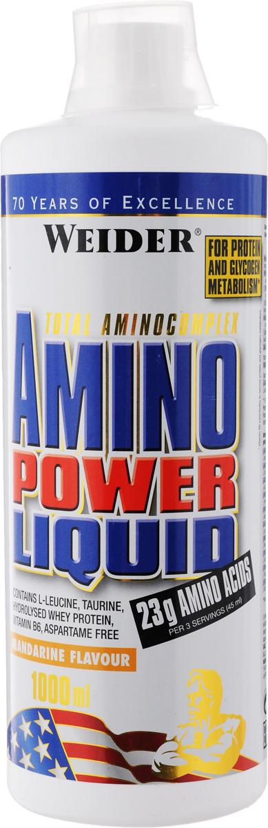 """Комплекс аминокислотный Weider """"Amino Power Liquid"""", мандарин, 1 л"""