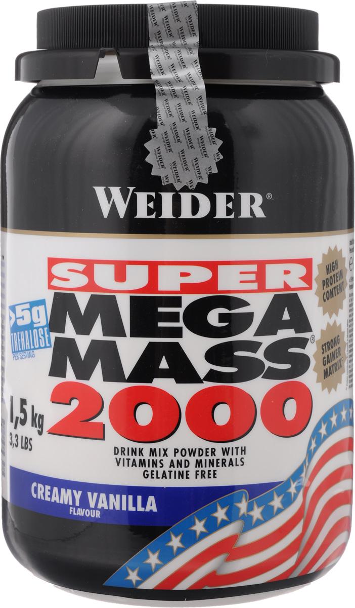 """Гейнер Weider """"Super Mega Mass 2000"""", ваниль, 1,5 кг"""