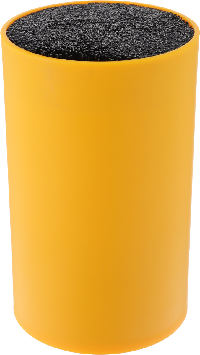 Подставка для ножей Mayer & Boch, цвет: оранжевый. 2424324243-3Подставка для ножей Mayer & Boch отлично дополнит интерьер вашей кухни. Корпус и специальные волокна выполнены из полипропилена. Изделие отвечает всем нормам гигиенических требований, так как при необходимости наполнитель свободно вынимается и моется в посудомоечной машине. Подставка станет прекрасным подарком, а ее яркий дизайн станет украшением вашей кухни. Можно мыть в посудомоечной машине. Высота подставки: 18 см.Диаметр подставки: 11 см.