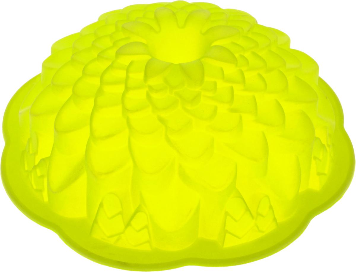 Форма для выпечки кекса Mayer & Boch Хризантема, круглая, цвет: салатовый, диаметр 22 см22075_салатовыйКруглая форма Mayer & Boch Хризантема будет отличным выбором для всех любителей выпечки. Благодаря тому, что форма изготовлена из силикона, готовую выпечку вынимать легко и просто. Стенки формы оснащены рельефной поверхностью. Форма прекрасно подходит для выпечки кексов.С такой формой вы всегда сможете порадовать своих близких оригинальной выпечкой. Материал изделия устойчив к фруктовым кислотам, может быть использован в духовках, микроволновых печах, холодильниках (выдерживает температуру от -40°C до 230°C). Можно мыть в посудомоечной машине. Диаметр (по верхнему краю): 22 см. Высота стенок: 8 см. Как выбрать форму для выпечки – статья на OZON Гид.