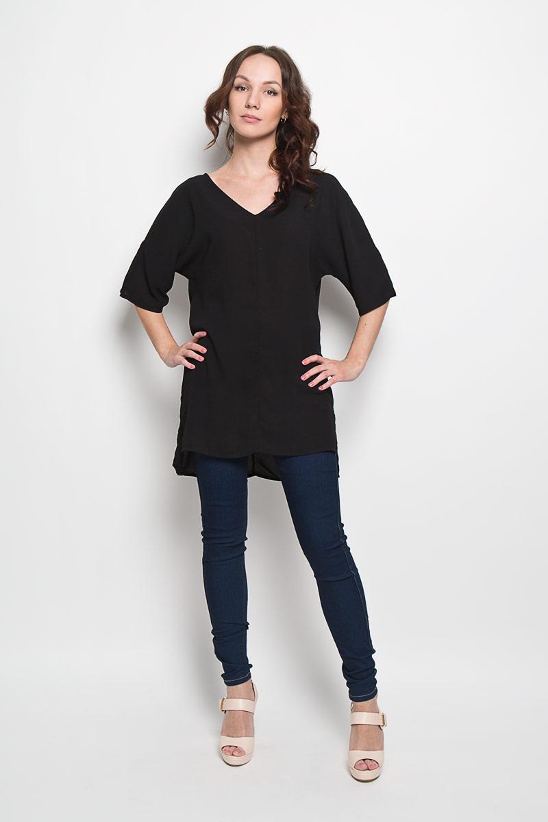 Блузка женская Glamorous, цвет: черный. AC0295. Размер S (44)AC0295Стильная женская блузка Glamorous, выполненная из 100% полиэстера, подчеркнет ваш уникальный стиль и поможет создать женственный образ. Модель c V-образным вырезом горловины и рукавами летучая мышь. Спинка модели немного удлинена. В боковых швах обработаны небольшие разрезы. Такая блузка будет дарить вам комфорт в течение всего дня и послужит замечательным дополнением к вашему гардеробу.