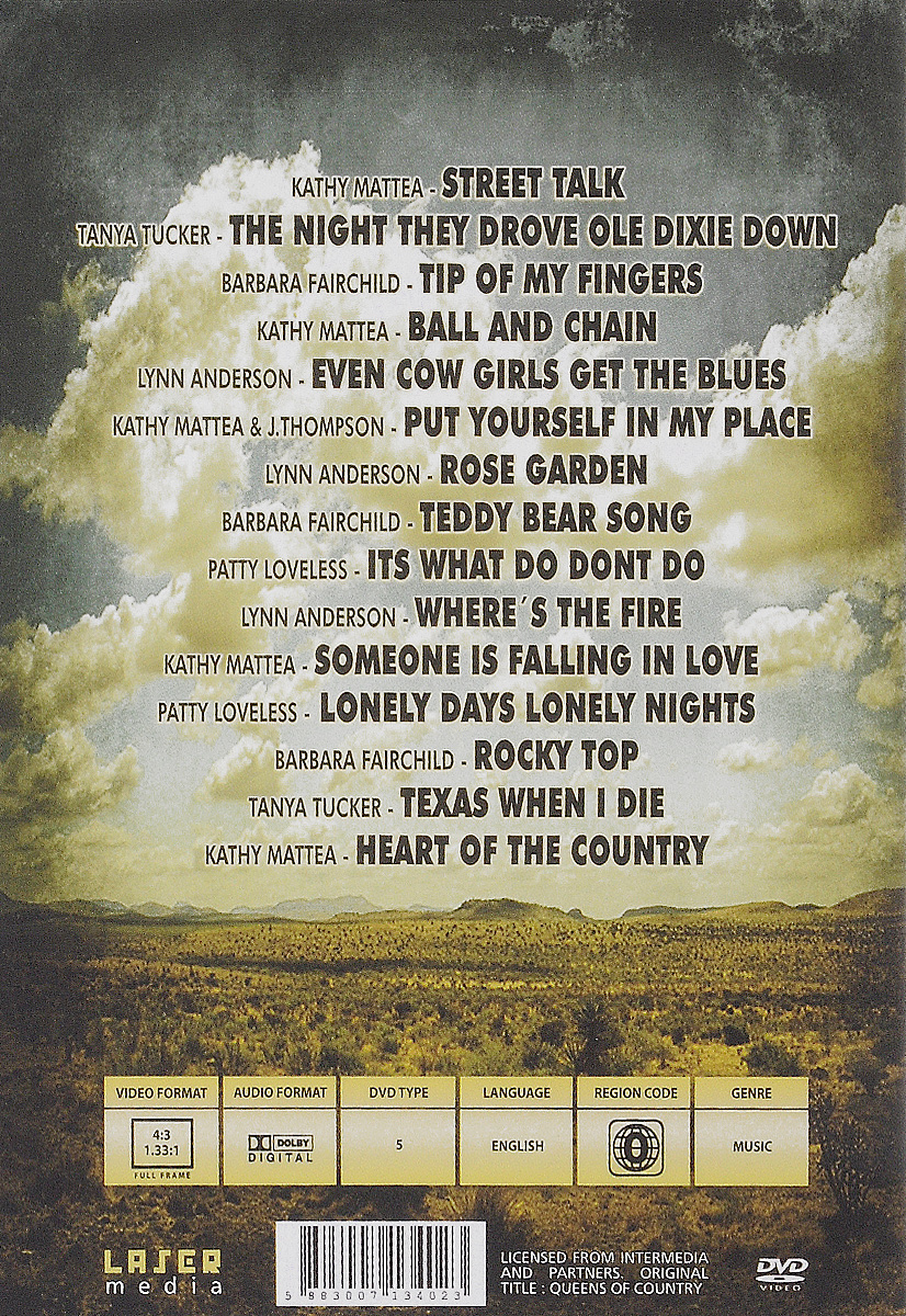 Ladies Of Country Music:  Special Collectors Edition Tanya Tucker - Texas When I Die 15. Kathy Mattea - Someone Is Falling...
