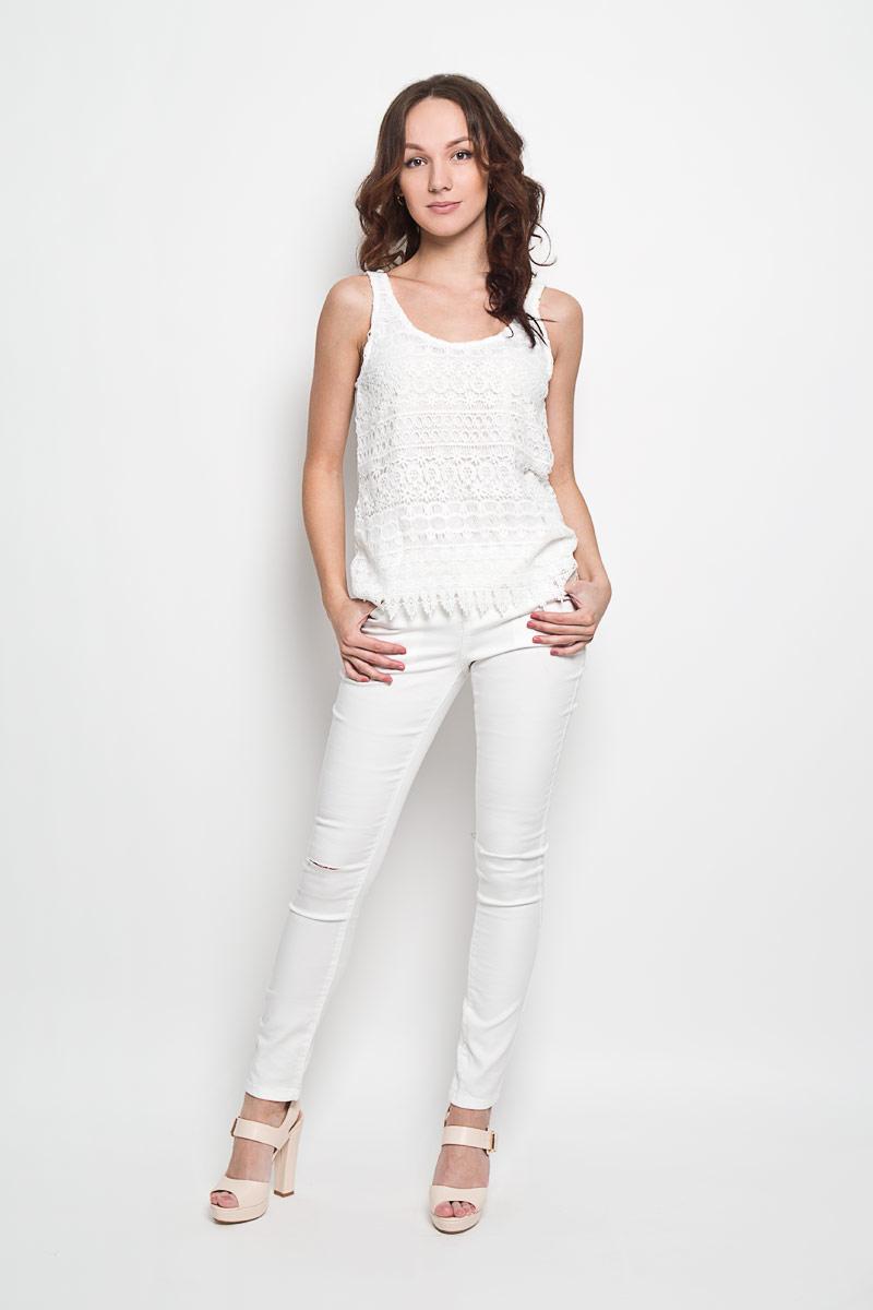 Топ женский Broadway Fabiana, цвет: белый. 10156305 001. Размер L (48) broadway broadway 10149852 02 топ белый белый 46