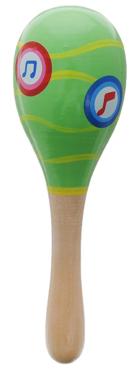 Игрушки из дерева Маракас цвет зеленый