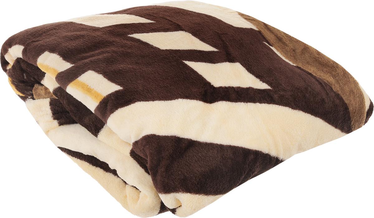 """Плед """"Absolute"""", цвет: бежевый, коричневый, 180 х 230 см"""