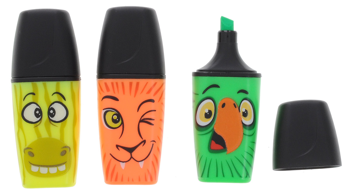 Stabilo Текстовыделитель Boss Mini Funnimals цвет желтый зеленый оранжевый 3 шт07/03-46Мини-формат и захватывающие истории по-прежнему популярны среди школьников, а новые герои STABILO все также востребованы. Привлекательный дизайн и оригинальная упаковка подчеркивают уникальность товара, привлекают внимание. Контуры рисунка на корпусе мини-маркеров светятся в темноте. Три цвета – три разных образа. Оригинальная упаковка подчеркивает образ и уникальность товара и привлекает дополнительное внимание. Обладает всеми достоинствами STABILO BOSS ORIGINAL.