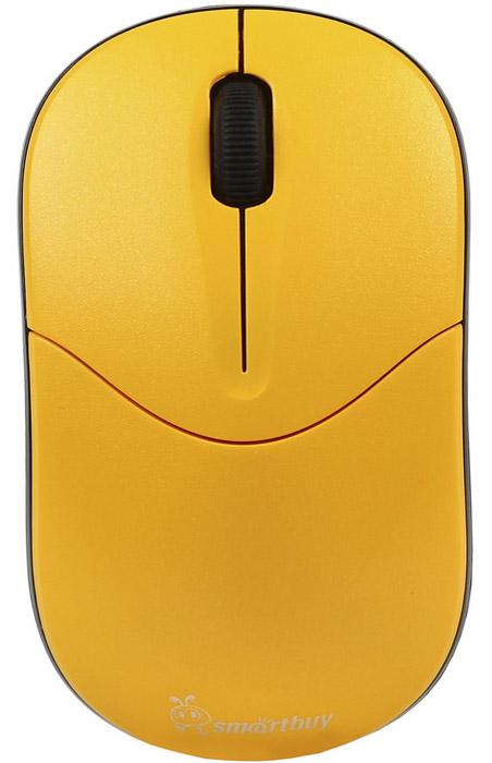SmartBuy SBM-335AG, Yellow мышьSBM-335AG-YБеспроводная оптическая мышь SmartBuy 335AG предназначена для ноутбука или ПК. Эргономичная и в тоже время симметричная форма корпуса обеспечивает комфортное управление любой рукой. Разрешение 1000 dpi позволяет использовать устройство для работы в различных программах. Функция энергосбережения продлевает срок службы батарейки. Входящий в комплект миниатюрный наноресивер можно оставлять подключенным к порту ПК или хранить в специальном отсеке в корпусе мыши.