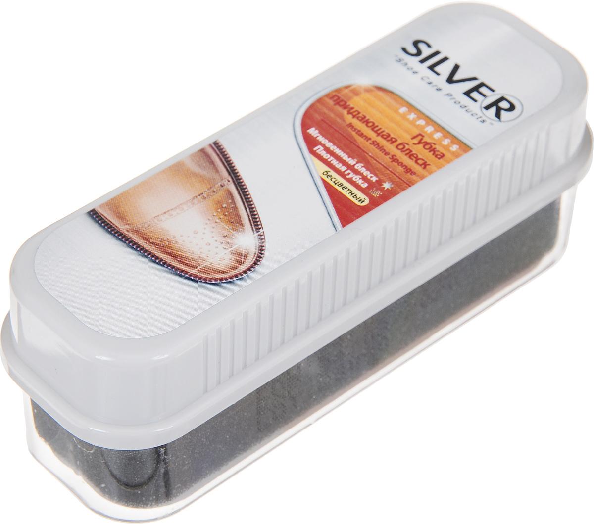Губка для обуви Silver, придающая блеск, цвет: бесцветный, 12 х 4 х 4 смPS1001-03/B3N30-3Губка Silver с силиконовым маслом и красителем предназначена для ухода за обувью из гладкой кожи, она придает ей естественный блеск и освежает цвет.Состав: силиконовое масло, краситель, парфюмерное масло.Товар сертифицирован.