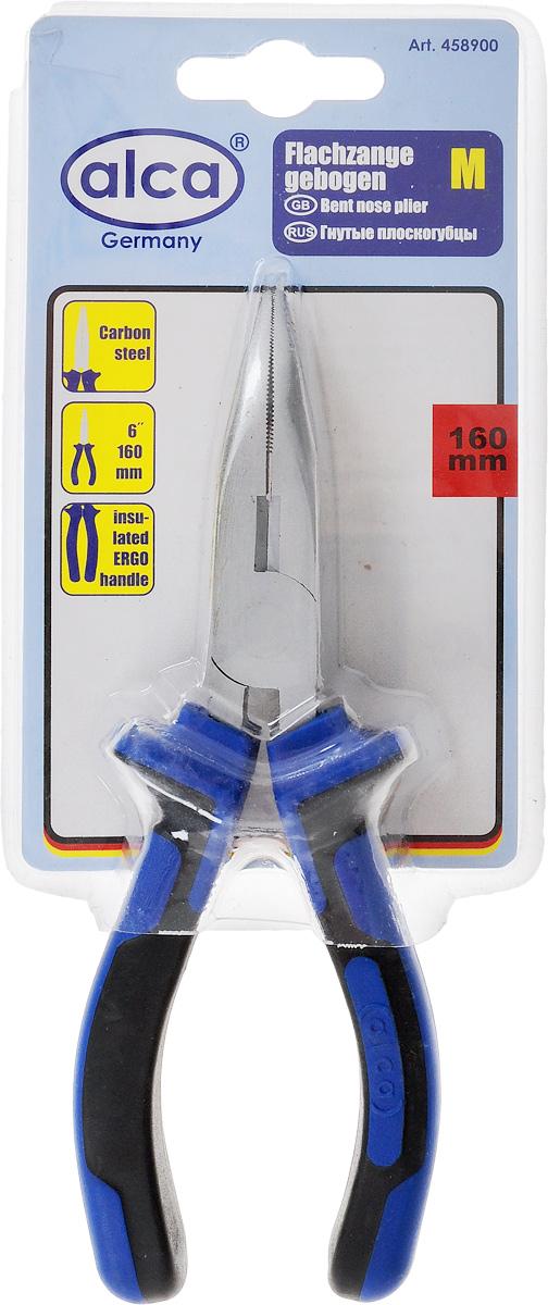 Плоскогубцы Alca, гнутые, 16 см458900Плоскогубцы Alca изготовлены извысококачественной карбоновой стали.Эргономичные ручки с прорезиненным покрытием.Они предназначены длязахвата, зажима и удержания мелких деталей.Длина: 16 см. Размер рабочей части: 7 х 1,7 см. Твердость стали: HRC 42~48. Твердость режущих кромок: HRC 55~65.