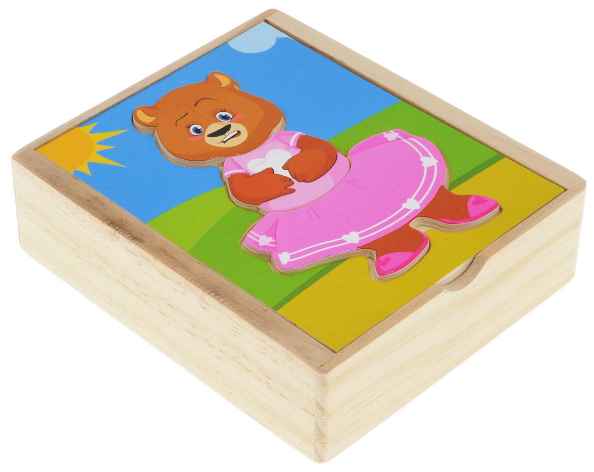 Мир деревянных игрушек Пазл Медвежонок Катя фигурки игрушки kate & mimmim игрушка плюшевая катя и мим мим катя 20 см
