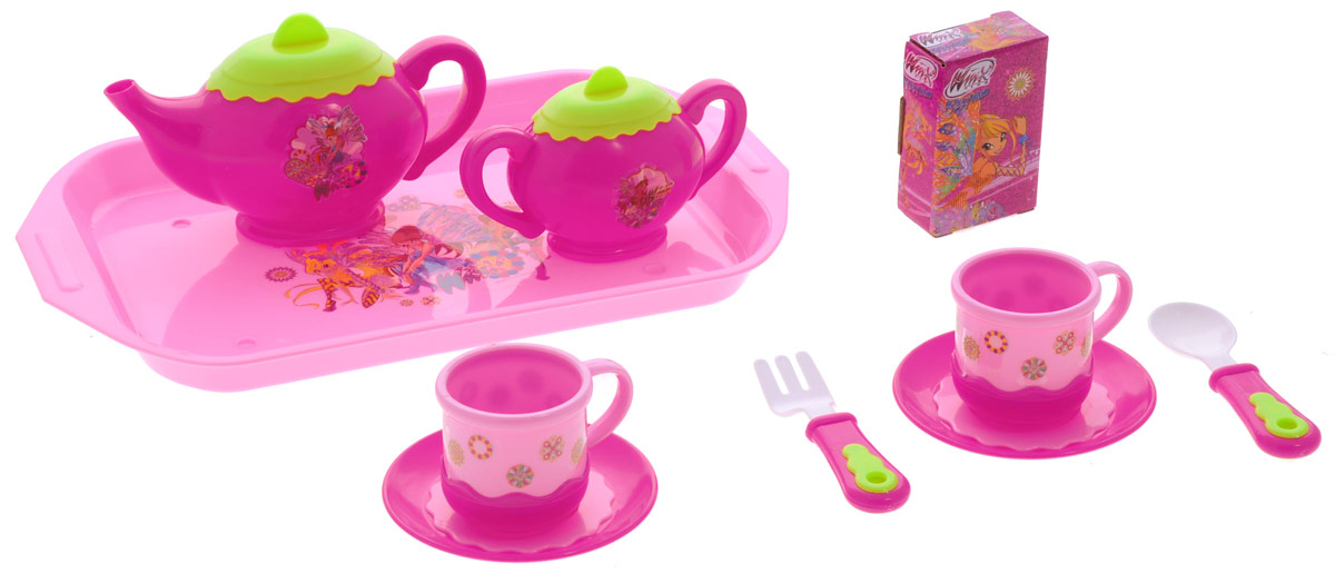 Играем вместе Набор посуды Winx 11 предметов краски играем вместе набор multiart winx