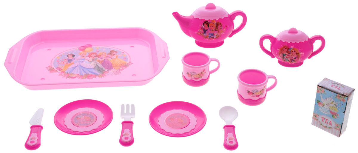 Играем вместе Набор посуды Принцессы 11 предметов играем вместе игрушка пластм набор посуды принцессы дисней 14 предметов играем вместе