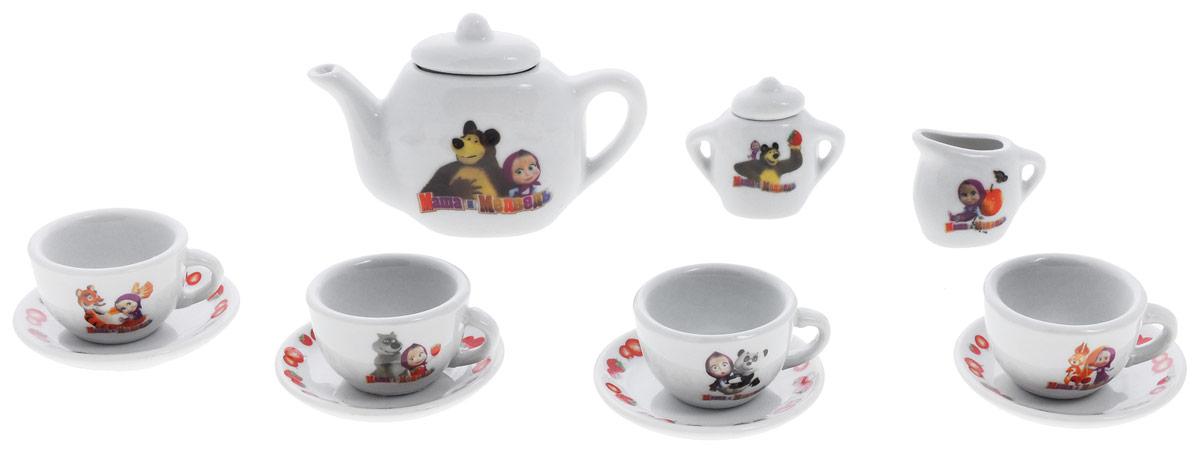 цены Играем вместе Игровой набор посуды Маша и Медведь 11 предметов цвет белый
