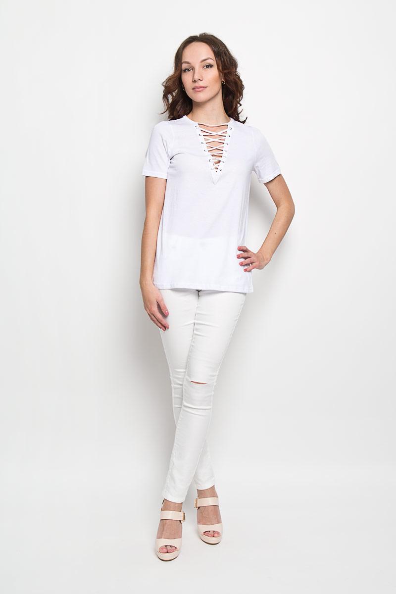 Футболка женская Glamorous, цвет: белый. CK2761. Размер XS (42) джинсы glamorous glamorous gl008ewqpj48
