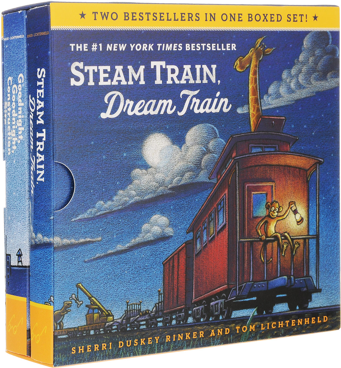 Купить Goodnight, Construction Site. Steam Train, Dream Train (комплект из 2 книг),