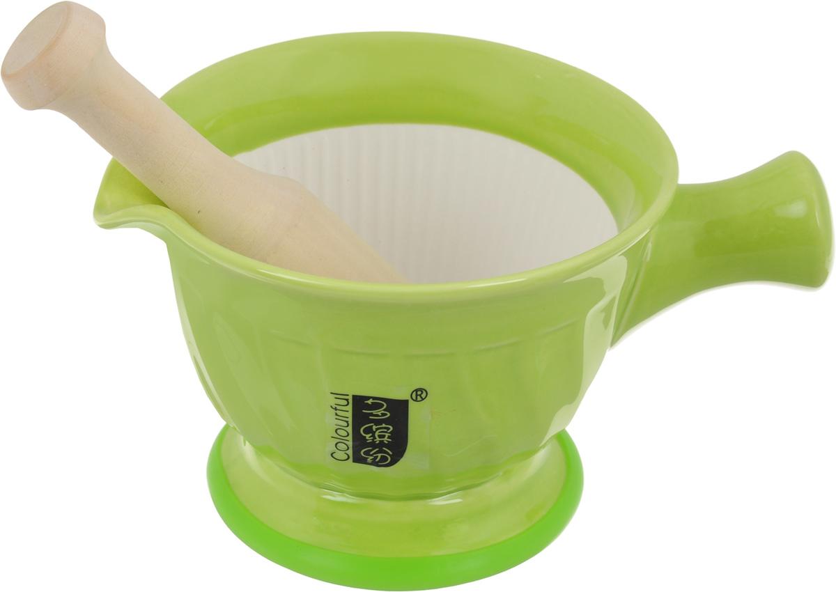 Ступка с пестиком  Empire of Dishes , цвет: светло-зеленый - Кухонные принадлежности