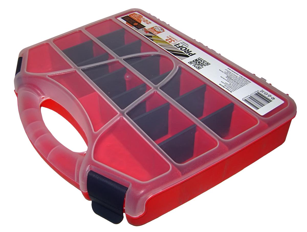 Органайзер для инструментов Blocker Profi, цвет: красный, 32 х 26 х 5,5 смBR3720КРУдобный органайзер Blocker Profi предназначен дляпереноски и хранения инструментов. Изделие выполненоиз высококачественного полипропилена. Прозрачная крышка, небольшой размер ипродуманная эргономика делают хранение любыхмелочей простым и эффективным. Надежные замкипредохраняют от случайного открытия. Съемныеразделители позволяют организовать пространство всоответствии с вашими пожеланиями.