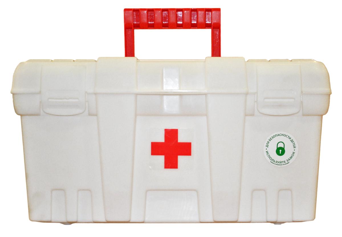 Аптечка Blocker Скорая помощь, цвет: белый, красный, 38 х 21 х 19,5 см аптечка blocker скорая помощь с отсеками цвет прозрачный 29 х 17 х 13 см