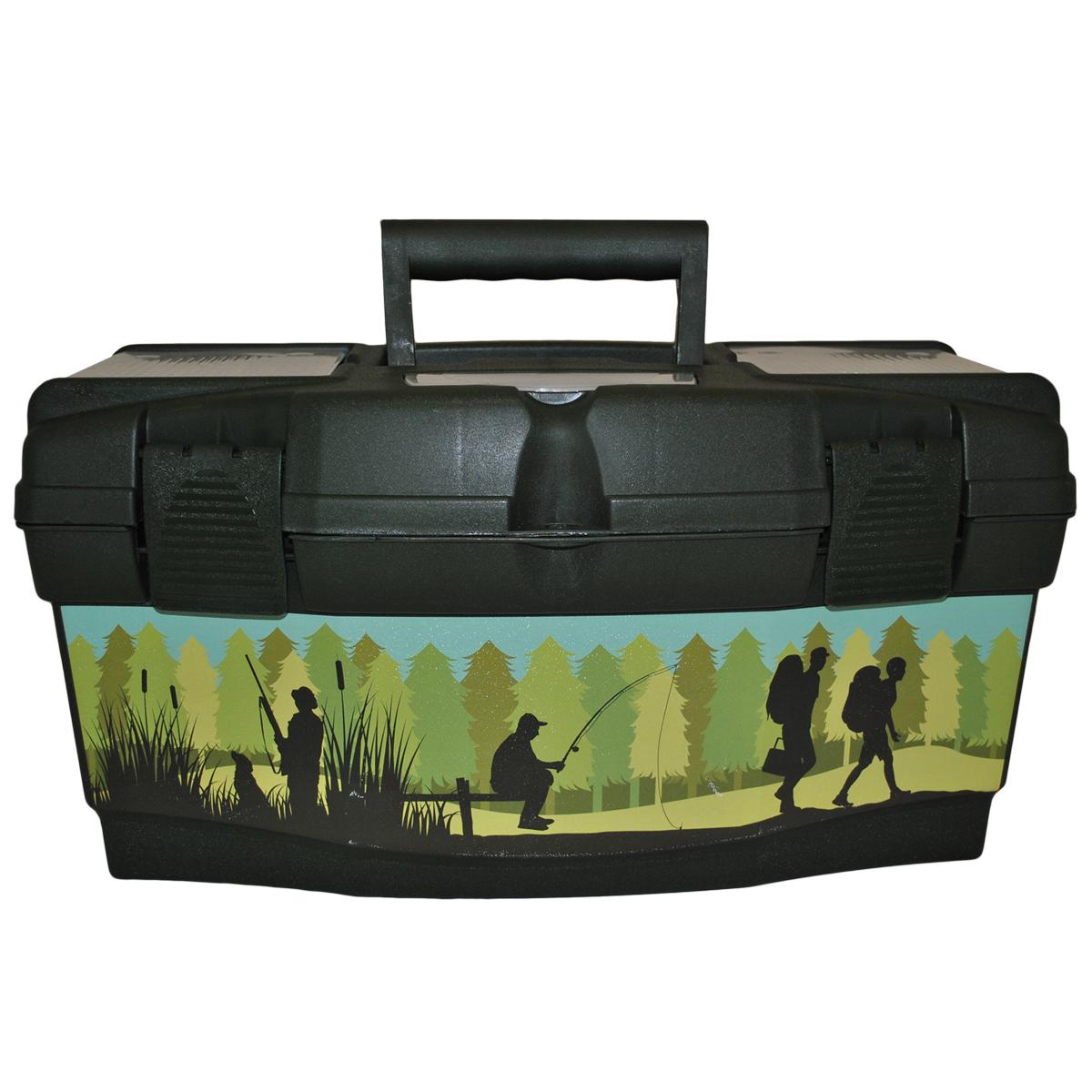 Ящик для инструментов Blocker Master Tour. Рыбак, цвет: темно-зеленый, 485 х 250 х 245 мм ящик для инструментов truper т 15320