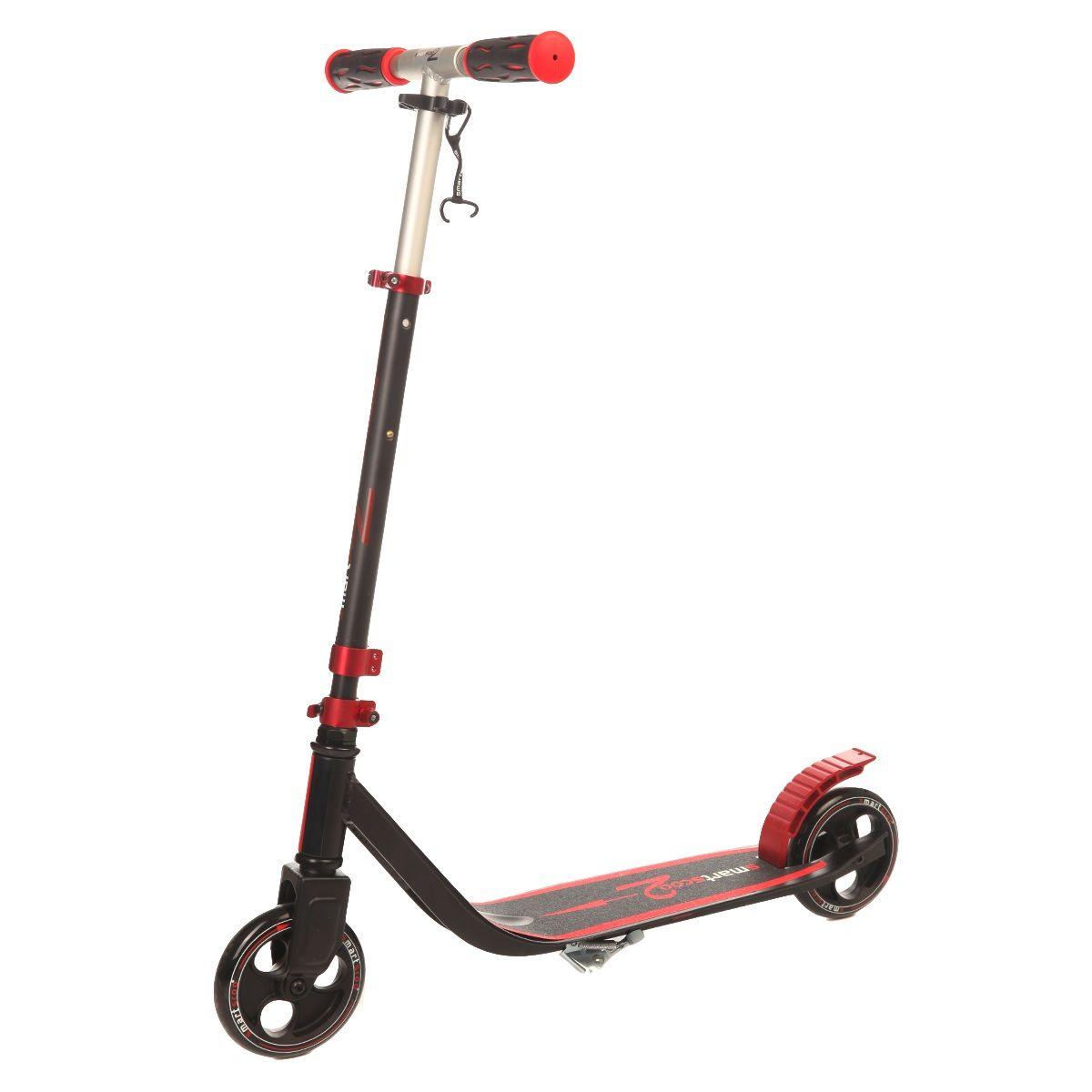 Самокат Fun4u Smartscoo, цвет: красный, черныйMS-190-13-2Складывающийся самокат для детей и взрослых. Колеса: 145 мм, цветные Подшипники: abec 5Алюминий с защитно-декоративным оксидным покрытием Максимальная нагрузка - 100 кгУдобная раскладывающаяся системаВес- 3,4 кг