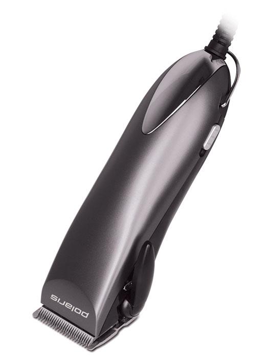 Polaris PHC 2501, Dark Blue машинка для стрижки волосPHC 2501_антрацитМашинка для стрижки Polaris PHC 2501 оснащена телескопической насадкой, при помощи которой можно менять высоту ножа и регулировать длину стрижки волос от 8 до 20 мм. Модель прибора имеет стандартную насадку с 5-уровневым рычагом, которая позволяет установить длину прически от 0,8 до 3 мм. Ширина режущих лезвий, выполненных из высококачественной нержавеющей стали, составляет 45 мм.